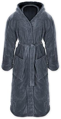 Grfenstayn Badjas voor dames en heren knuffelig fleece met capuchon maat SXXXL koTex Standard 100 flanelfleece