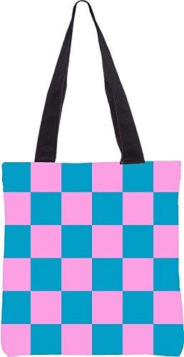Modello Di Scacchiera Snoogg 2447 Tote Bag Shopping Utility 13.5 X 15 Pollici Realizzata In Tela Di Poliestere