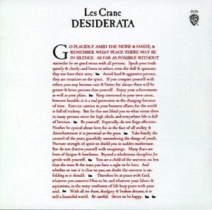 Desiderata by Wea International