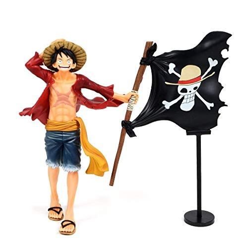 CartUp   Anime - King of Pirates Carrying Straw Hat Pirate's Pirate Flag, Monkey D. Luffy - One Piece Anime Action Figure -- 21cm - Box Included (1pc)