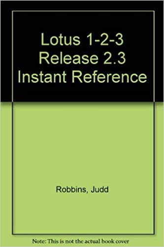 Amazon Com Lotus 1 2 3 Release 2 3 Instant Reference 9780895886583 Robbins Judd Books