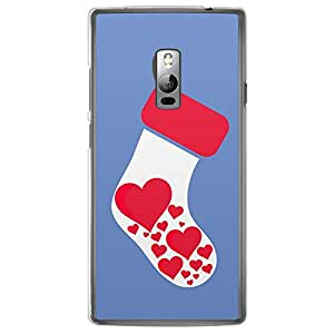 Loud Universe OnePlus 2 Christmas 2014 Socks Printed Transparent Edge Case - Blue
