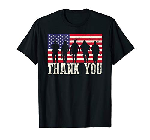 Patriotic Tee Shirts (Patriotic T Shirt For Men Women Kids Thank You American)