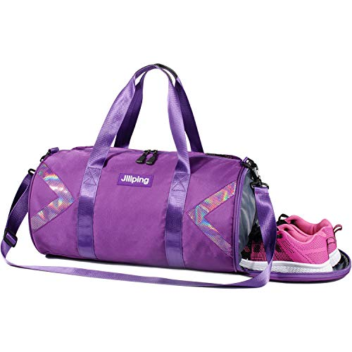 Gym Duffel Bag - Gym Bags - Travel Fitness Sports Luggage Duffel with Shoes Compartment for Men Women, Purple -