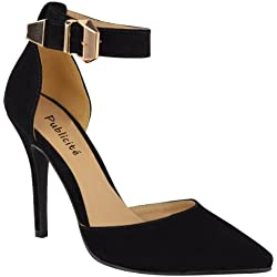 Fashion Thirsty Womens High Heel Point Toe Stiletto Sandals Ankle Strap Court Shoes Size 9