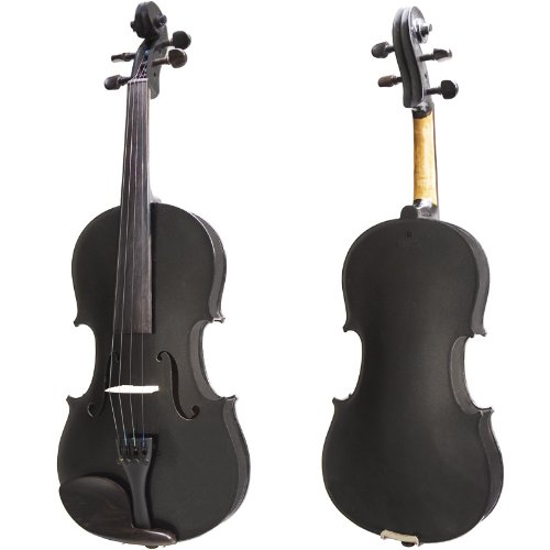 Cecilio CVN-Black 4/4 (Full Size) Ebony Fitted Orchestra Black Violin with Hard Case Cecilio Musical Instruments 4/4CVN-BLACK