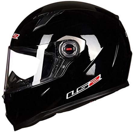 ZJJ ヘルメット- フルカバーヘルメット、ユニセックスヘルメット、雨および紫外線保護用ヘルメット、HD透明レンズ (色 : Bright black, サイズ さいず : L l)