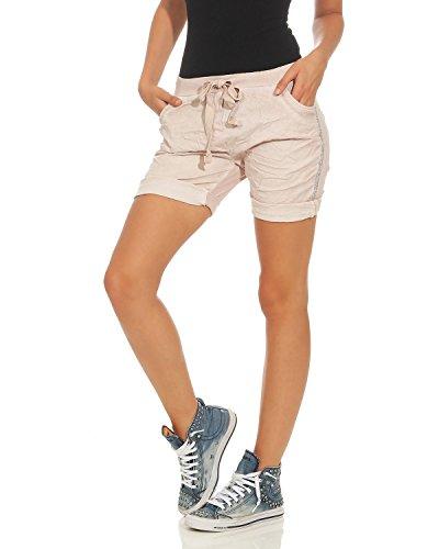 Pantaloni caldi Pantaloni lavati Antico Pantaloncini corti corti ZARMEXX Rosa bermuda usati Pantaloncini Pantaloncini qO6zntWw