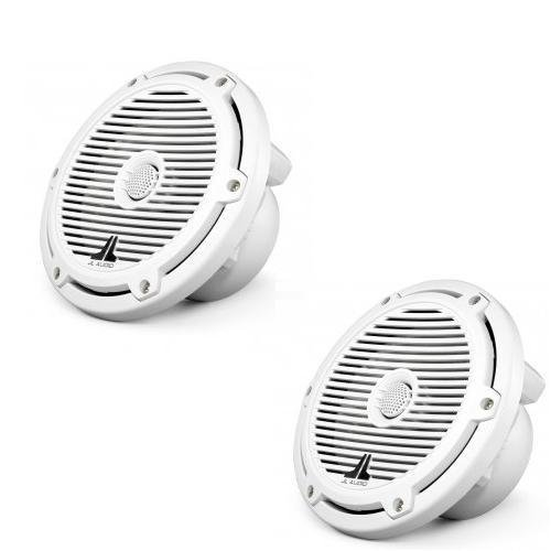 M770-TCX-CG-WH - JL Audio 7'' Tower Marine Coaxial Speakers White with Classic Grills