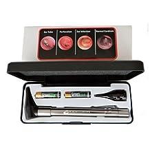 HARD CASE- Third Generation Dr Mom Slimline Stainless LED Pocket Otoscope now includes Pocket Clip