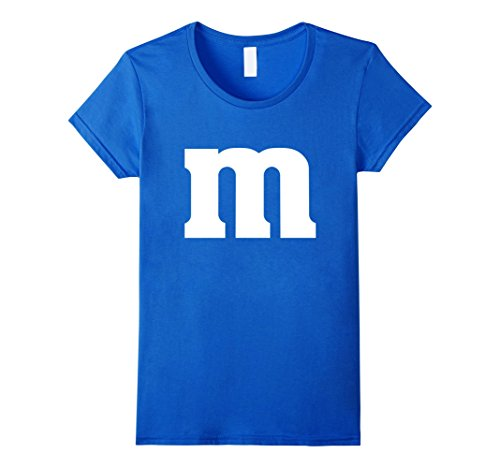 Womens M Candy Easy Halloween Costume DIY Funny Clever Idea T-Shirt XL Royal Blue