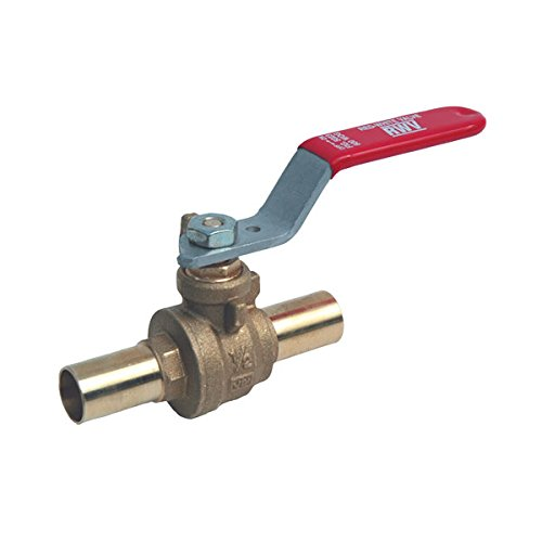 Red-White Valve 34RW5023 Bronze EzPress Full Port Ball Valve with Male Ends, 3/4'' by Red-White Valve