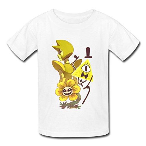 Steven Universe Undertale Gravity Falls KingDeng Latest Offers White Kids T-Shirt Medium
