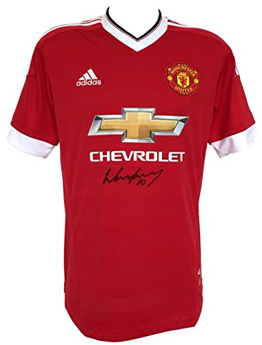 Wayne Rooney Signed 2015/16 Manchester United Soccer Jersey BAS by Sports Integrity