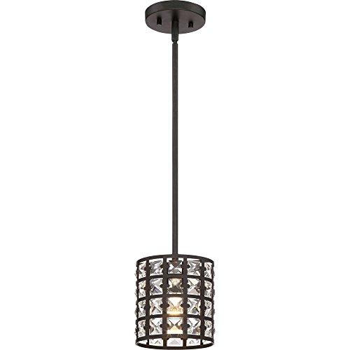 - Quoizel LXY1506IB Luxury Crystal Mini Pendant Lighting, 1-Light, 100 Watts, Imperial Bronze (8