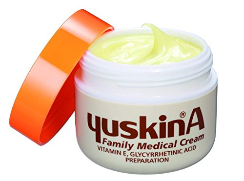 YU-SKIN-A Cream Japan's secret for dry skin relief. Deep hydrating moisturizing cream for face, hand and body. No artificial colors or fragrances. (Best Deep Moisturizing Face Cream)