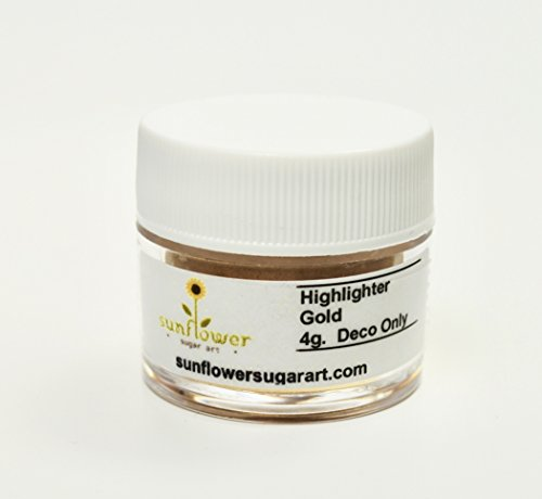 Industries Silver Glue (Gold Highlighter Dust, 4 gram container)