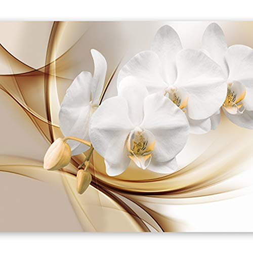 artgeist Photo Wallpaper Orange Orchid 135