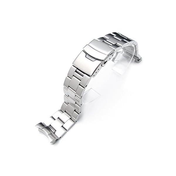 22mm-Brushed-Oyster-Solid-Link-316L-Stainless-Steel-Bracelet-for-Seiko-SKX007-Diver