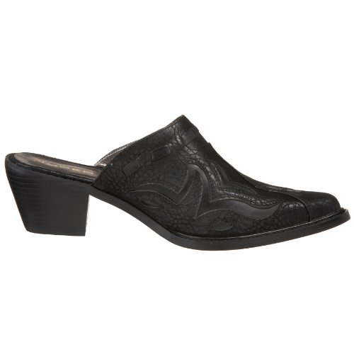 Roper 09-021-1555-0303 Bl Ladies Faux Leather Mule Black Size: 4 b03YJGAWfe