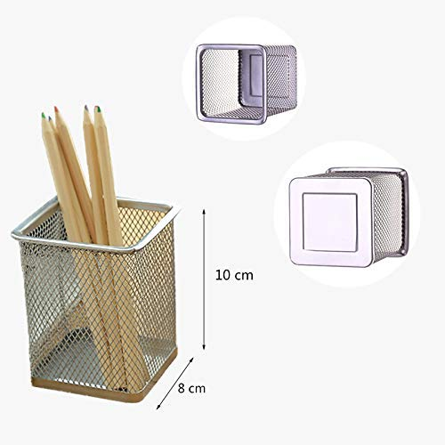 Bleistifthalter Pot Hollow grau Mesh Mesh Mesh Pattern Makeup Halter Square Pen Pot für Office Study dauerhaft und nützlich Ogquaton B07Q3DH9K3     | Online-verkauf