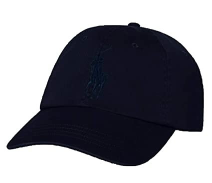 5ab30e53 RALPH LAUREN Polo Men Big Pony Logo Hat (Aviator Navy/Navy Pony) at ...