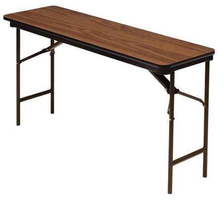 Iceberg Oak Folding Table (Premium Wood Laminate Folding Table w Foot Caps (72 in. L x 18 in. W -)