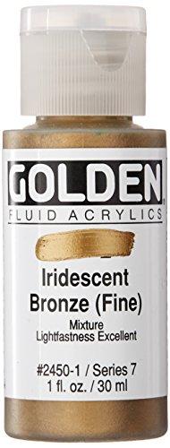 (Golden Fluid Acrylic Paint 1 Ounce-Iridescent Bronze )