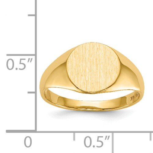 Roy Rose Jewelry 14K Yellow Gold Open Back 9.8mm Round Signet Ring Custom Personailzed with Free Engraving Available Initial or Monogram ~ Size 8 by Roy Rose Jewelry (Image #5)
