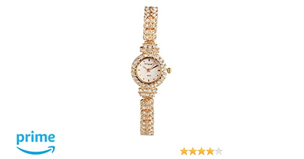 Amazon.com: ShoppeWatch Ladies Watch Rose Gold Tone Petite Small Face Crystal Bing Bracelet Reloj Dama SW9503RSWH: Watches