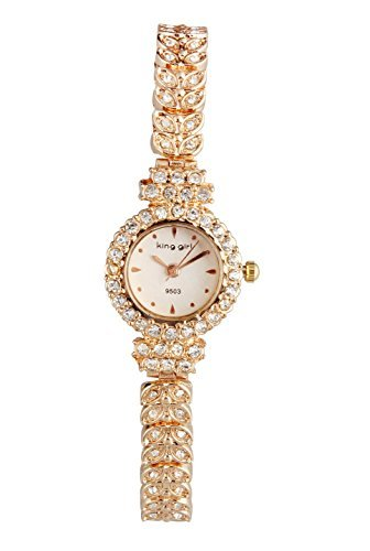 ShoppeWatch Ladies Watch Rose Gold Tone Petite Small Face Crystal Bing Bracelet Reloj Dama SW9503RSWH