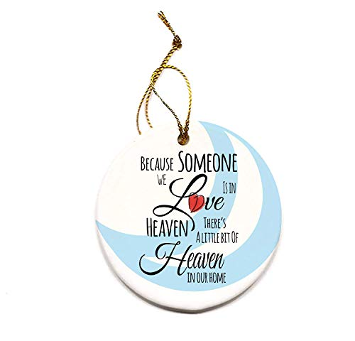 Someone in Heaven Swirl Porcelain Christmas Tree Round Ornament
