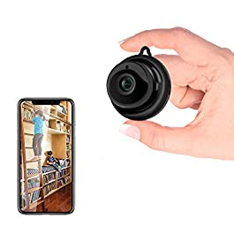 Sonkir Hidden WiFi Camera, Security Mini Spy Camera Covert Nanny Cam Indoor Video Recorder Support 2 Way Audio Motion Detection Night Vision
