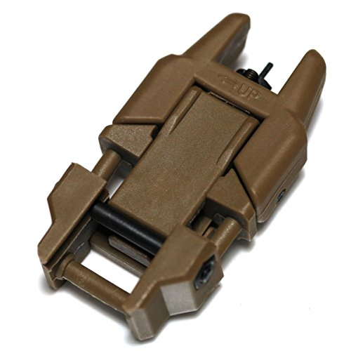 Airsoft Wargame Tactical Shooting Gear APS GG038D Rhino Auxiliary Flip Up Front Sight Desert Tan Brown by Airsoft Storm (Image #1)