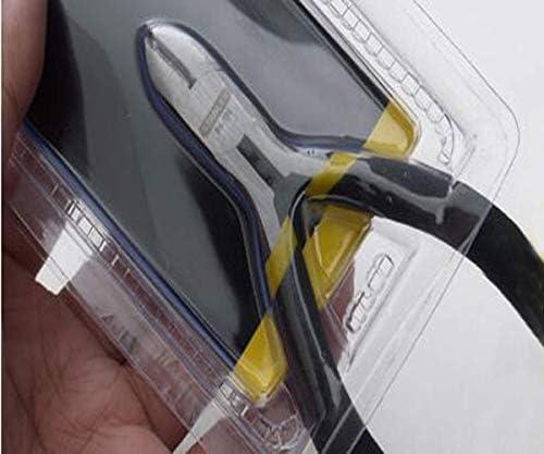 WY-WY 家の修理に適した、すなわち屋外産業メンテナンス4インチブラックハンドルミニニッパーセット(カラー:ブラック、サイズ:4インチ) ラジオペンチ