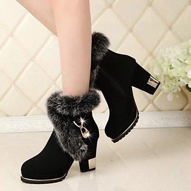Heart&M Damen Schuhe Stoff Herbst Winter Komfort Stiefel Blockabsatz Booties Stiefeletten Für Normal Schwarz