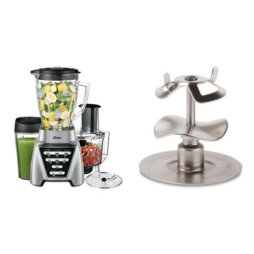 Oster Pro 1200 Blender 2-in-1 with Food Processor Attachment and XL Personal Blending Cup and Oster Milkshake Blade Bundle (Size Of A Nickel In A Blender)
