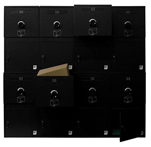 Mailbox Locking Apartment - Brizebox - Standard, Apartment Parcel Locking Box - Accepts Parcels:16