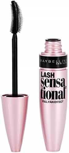 Maybelline Makeup Lash Sensational Washable Mascara, Blackest Black Volumizing Mascara, 0.32 fl oz