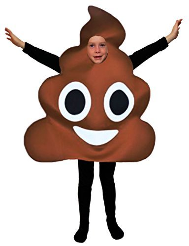 Favorite Emoticon Emoji Costumes for Boys and Girls (Child, Poo)]()