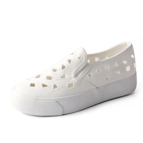 Zapatos de lona hueca transpirable en verano y el otoño/Zapatos de mujer/Pie perezoso Le Fu A