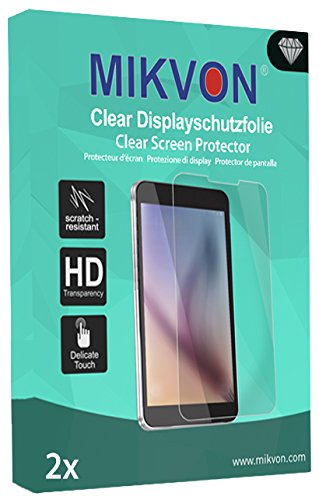 MIKVON 2X Clear Screen Protector for Garmin Zümo 590LM - Retail Package with Accessories
