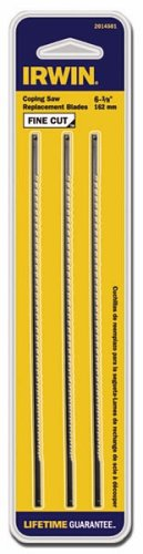 IRWIN Tools Coping Saw Blades, Fine, 3-pack (2014501)