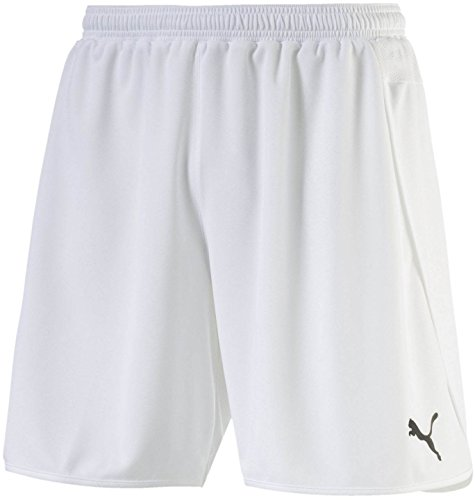 Puma Men's Speed Shorts, Youth X-Large, White-Black