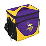 Logo Brands NFL Minnesota Vikings 24 Can Cooler, One Size, Purple