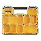 DeWalt DWST14825 10-Compartment Deep Pro Part/Tool Organizer with Metal Latch, Black/Clear/Black