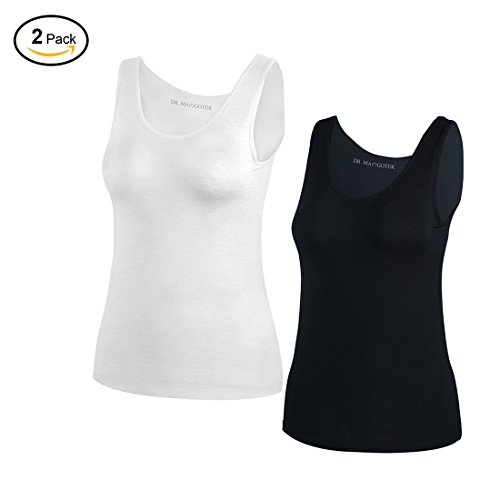 DR. MAのGOTEK Camisoles for women with Built-in Shelf Bras, Comfortable Padded Bra Women cami, Wide Straps Tank Top Soft Shelf Bra