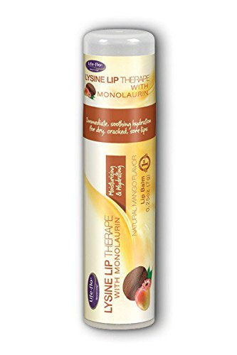 Lysine Skin & Lip Balm with Monolaurin Natural Mango - 2 oz. by Life-Flo (pack of 1) Lot of 4 Chap Ice Cherry Lip Balm Mini Cute Bonus Pack ...,, By OraLabs