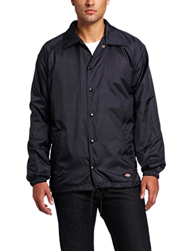 Dickies Men's Snap Front Nylon Jacket, Dark Navy, (Security Windbreaker)