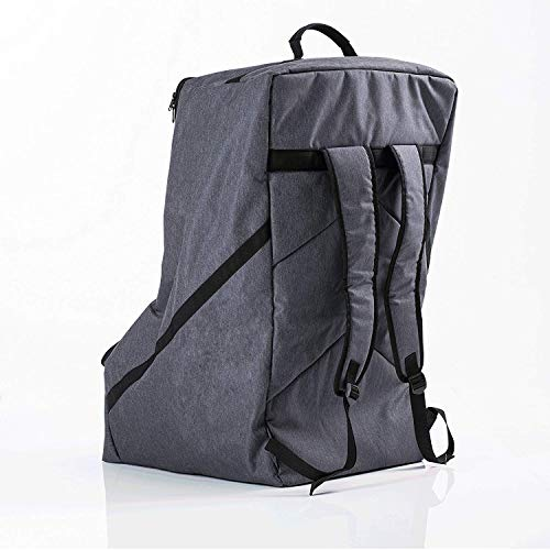 Premium Car Seat Travel Bag - Padded Backpack for Airplane Flight Gate Check In - Strong YKK Zip - Denim Color Protector Cover by Luvdbaby (Image #3)
